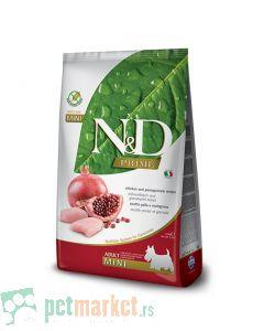 N&D Prime: Hrana za pse Mini Adult, Piletina i Nar
