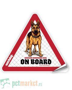 Watchdog: Nalepnica za auto Nemački Ovčar