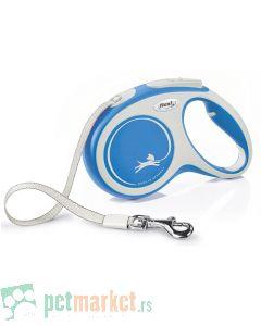 Flexi: Povodac New Comfort Tape Blue
