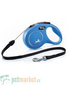 Flexi: Povodac New Classic Cord Blue
