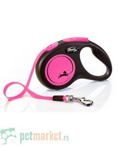 Flexi: Povodac New Neon Tape Pink