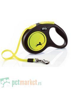 Flexi: Povodac New Neon Tape Yellow
