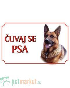 Kozmo: Tabla Čuvaj se psa, Nemački Ovčar latinica