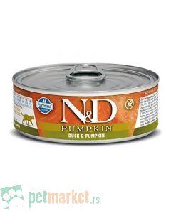 N&D Grain Free: Vlažna hrana za mačke, Bundeva i Pačetina