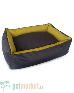 Pet Line: Krevet od mebla za pse Exclusive Sivo-Zlatni