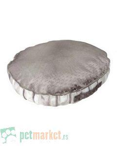 Pet Line: Ovalni jastuk od mebla za pse Exclusive Srebrni