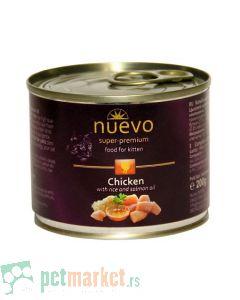 Nuevo: Vlažna hrana za mačiće Kitten, Piletina i Pirinač, 6 x 200 gr (150 din/kom)