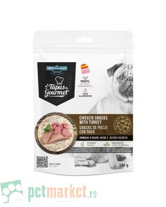 Mediterranean Natural: Poslastice za pse Tapas Gourmet, 190 gr