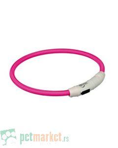 Trixie: Svetleća ogrlica sa USB-om Flash Light Ring, pink