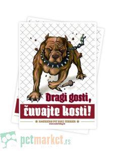 Watchdog: Nalepnica upozorenja za stan Pit Bul Smeđi