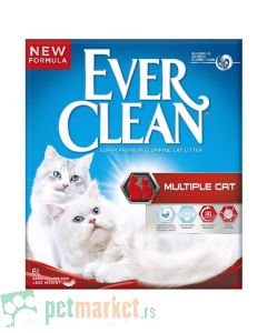 Ever Clean: Super Premium jako grudvajući posip za mačke Multiple Cat