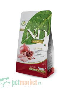 N&D Prime: Hrana za sterilisane mačke, Piletina & Nar