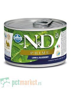 N&D Grain Free: Vlažna hrana za pse Prime Mini Adult, Jagnjetina i Borovnica