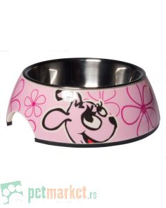 Rogz: 2 u 1 Bubble Bowlz posuda za štence, Pink