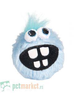 Rogz: Plišana loptica sa zubima Fluffy Grinz Ball, svetlo plava