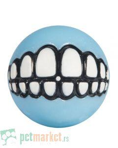 Rogz: Igračka za štence Lopta sa zubima Grinz Ball, svetlo plava