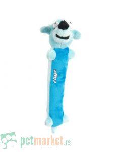 Rogz: Plišana igračka sa zvukom za štence Sausage, plava