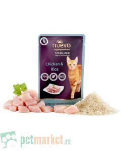 Nuevo: Vlažna hrana za sterilisane mačke Sterilized, Piletina i Pirinač, 6 x 80 gr (160 din/kom)
