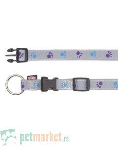 Trixie: Reflektujuća ogrlica za pse, siva