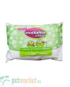 Inodorina: Vlažne maramice Refresh Chlorhexidine, 40 kom