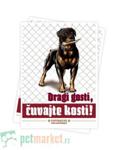 Watchdog: Nalepnica upozorenja za stan Rotvajler
