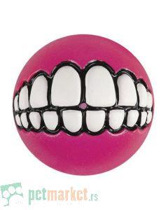 Rogz: Lopta sa zubima Grinz Ball, roza