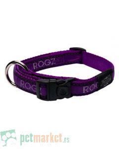 Rogz: Ogrlica za pse Purple Chrome