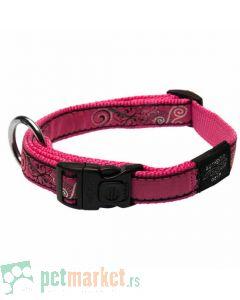 Rogz: Ogrlica za pse Pink Bones