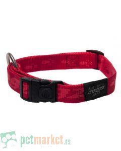 Rogz: Ogrlica za pse Alpinist, crvena