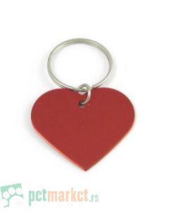 Pet Hardvare: Identifikacioni privezak srce, crveni