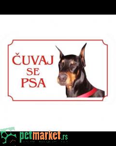 Kozmo: Tabla Čuvaj se psa, Doberman latinica