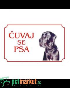 Kozmo: Tabla Čuvaj se psa, Doga latinica
