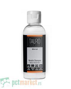 Tauro Pro Line: Keratinski šampon za belo krzno White Coat Keratin, 65 ml
