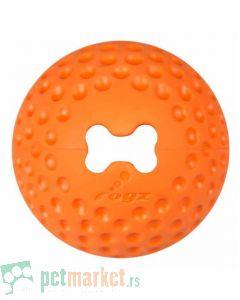 Rogz: Lopta sa otvorom za poslastice Gumz, narandžasta