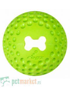Rogz: Lopta sa otvorom za poslastice Gumz, zelena