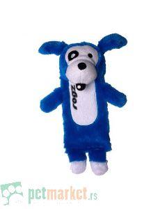 Rogz: Plišana igračka za pse sa otvorom i zvukom, plava
