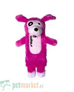 Rogz: Plišana igračka za pse sa otvorom i zvukom, roza