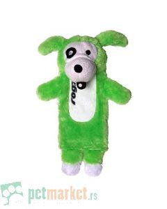 Rogz: Plišana igračka za pse sa otvorom i zvukom, zelena