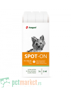 Amigard: Preparat protiv buva i krpelja Small Dog 3 Spot On
