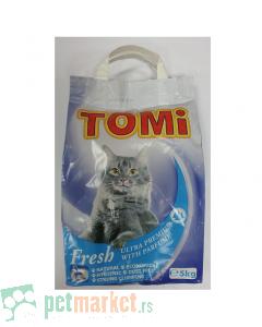 Tomi: Posip za mačke sa mirisom bora, 5 kg