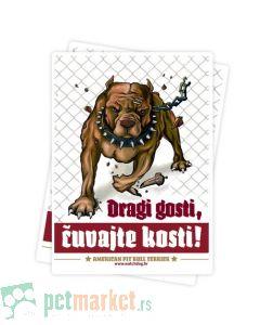 Watchdog: Tabla upozorenja Pit Bul Smeđi