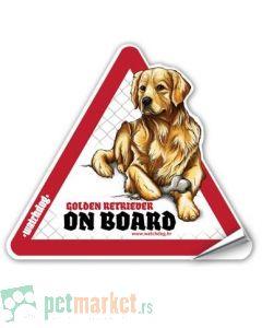 Watchdog: Nalepnica za auto Zlatni Retriver