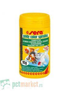 Sera: Hrana za zlatne ribice Goldy Color Spirulina, 100 ml